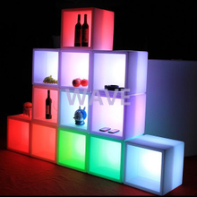 Outdoor Flower Pots LED Furniture Cube