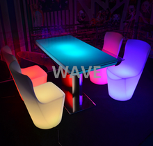 16 colors change restaurant led dinning coffee table