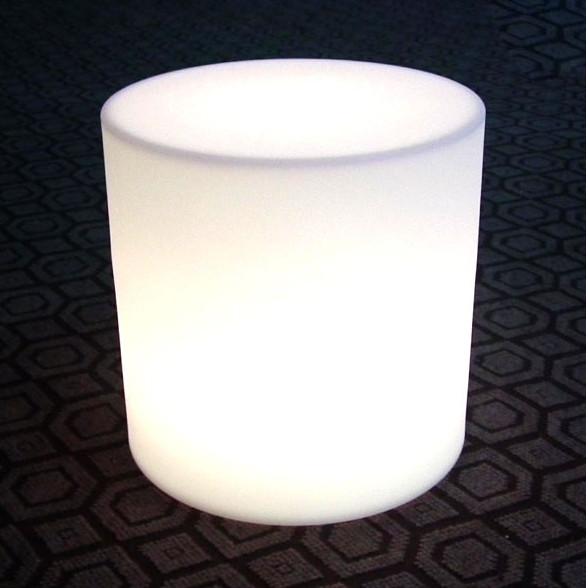 Battery Rechargeable Round LED Stool