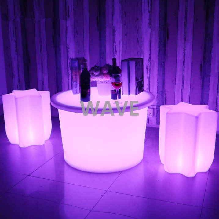 colors change Novelty design led star shape stool chair