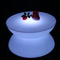 PE remote control Drum shape led coffee table