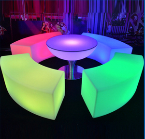 colors change outdoor Arc-shaped LED Funny Bar Stools