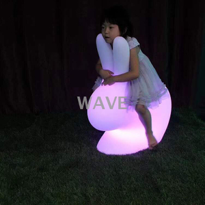 PE colors change rabbit led decoration light