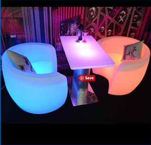outdoor Illuminated Single LED furniture Sofa chair