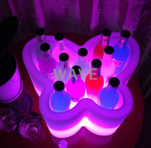 PE colors change High Capacity LED Ice Bucket