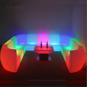 outdoor RGBW Bar Setup LED Sofa