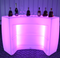 16 colors change outdoor lighted bar counter