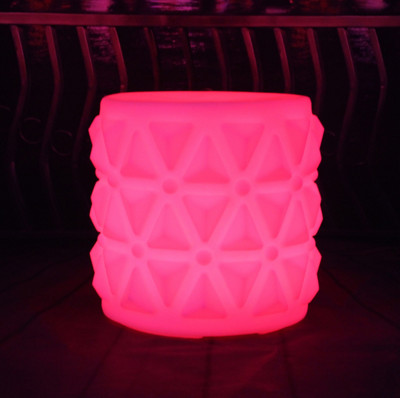 colors change Rechargeable Lighted Pineapple LED Stool