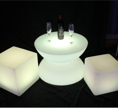 color changes Round Shaped LED Coffee BarTable
