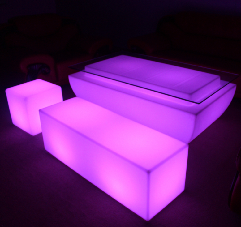 battery 16 colors change Waterproof LED Stool