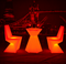 Modern furniture led cocktail table and chair set