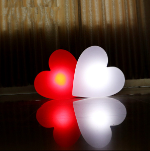 PE color changes Waterproof LED heart Light