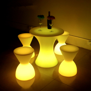 IP65 Waterproof remote control color change LED Stool