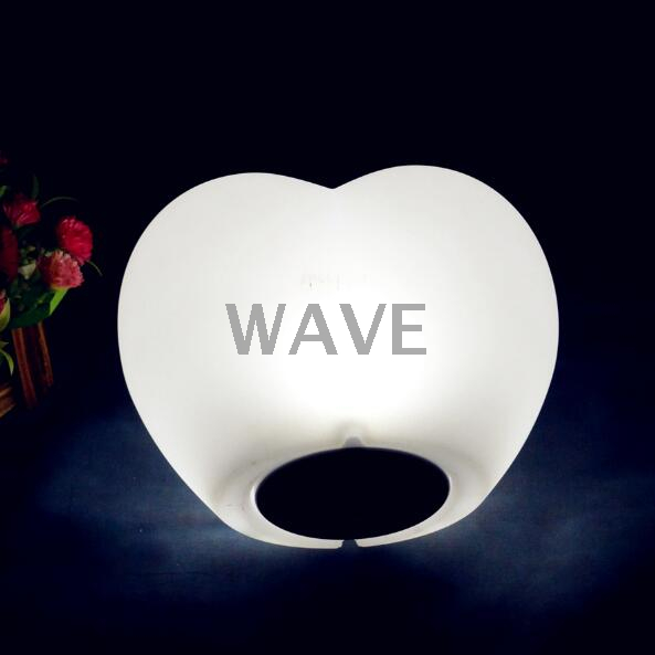 PE colors change rechargeable LED heart Light