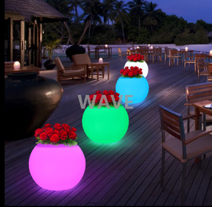Waterproof Garden LED Flower Pot